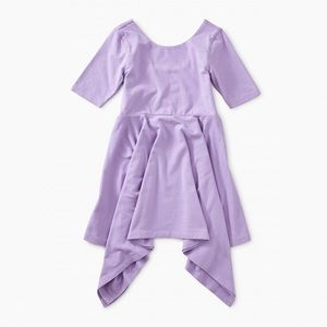 NEW! Tea Collection Solid Hankerchief Hem Dress 2t